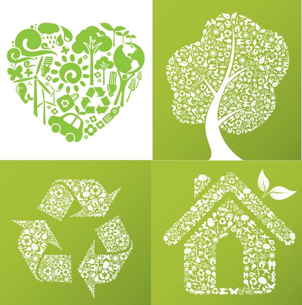 生态环保创意图标矢量素材
