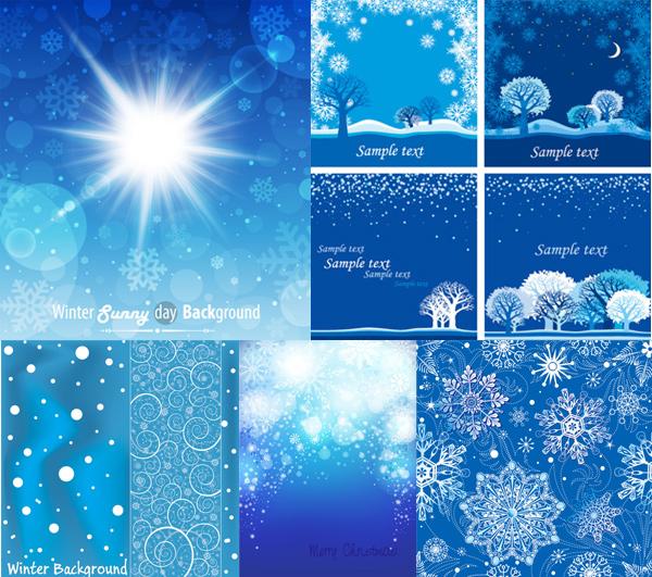 雪花图案背景矢量素材