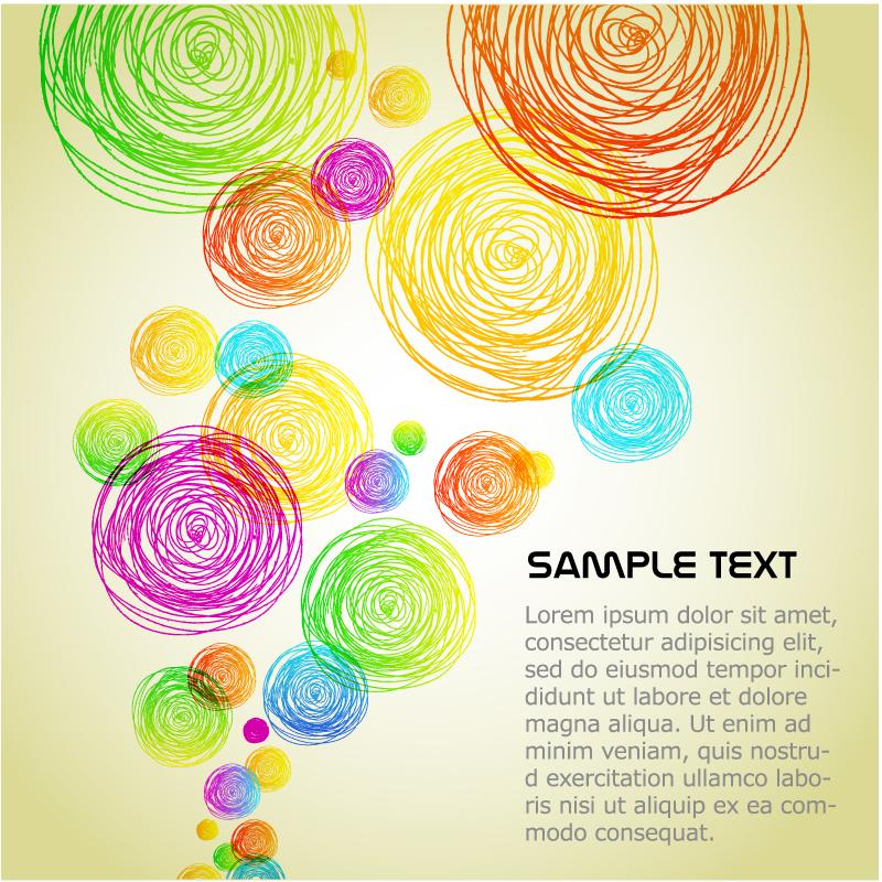 创意铅笔笔触图案矢量素材