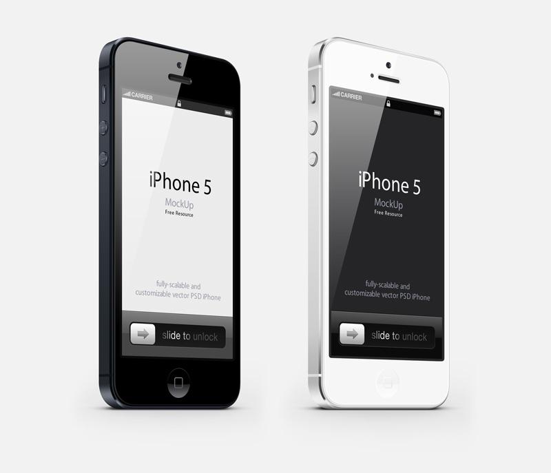 最新iphone5PSD分层素材
