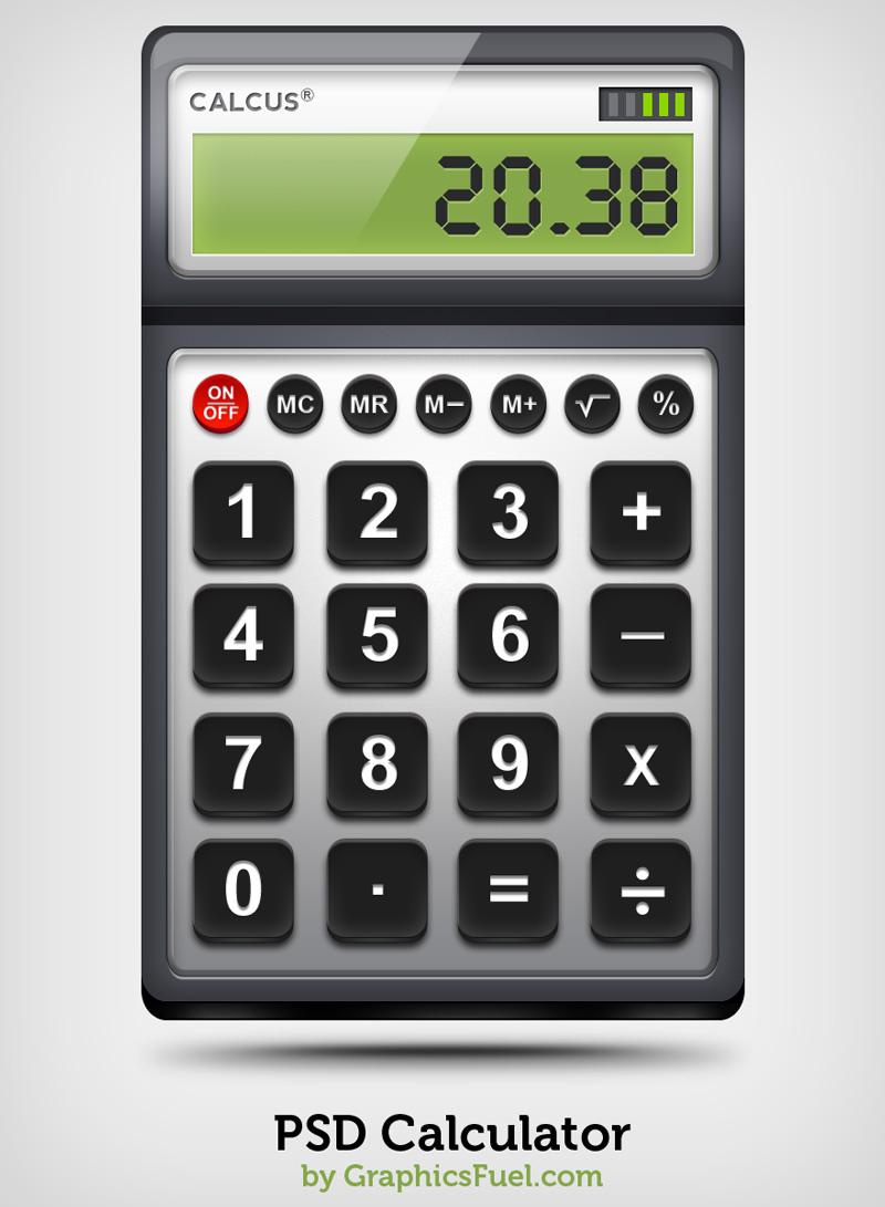 计算器PSD素材