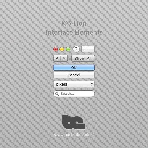 iOS-Lion系统界面元素PSD素材