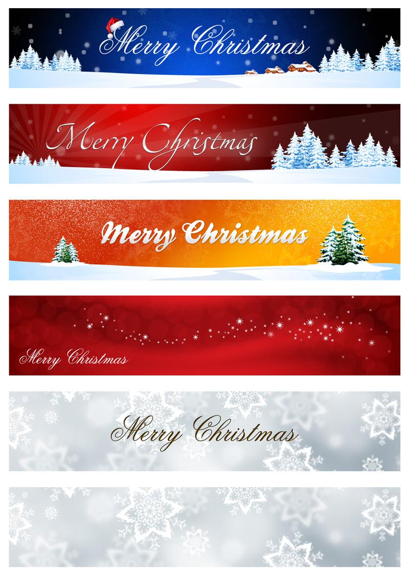 圣诞节导航栏标题栏PSD素材