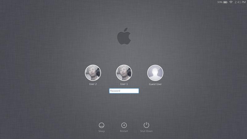 Mac-Lion系统登陆界面PSD素材