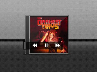 带专辑封面的音乐播放器PSD素材