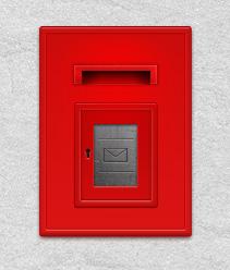红色的邮箱PSD素材