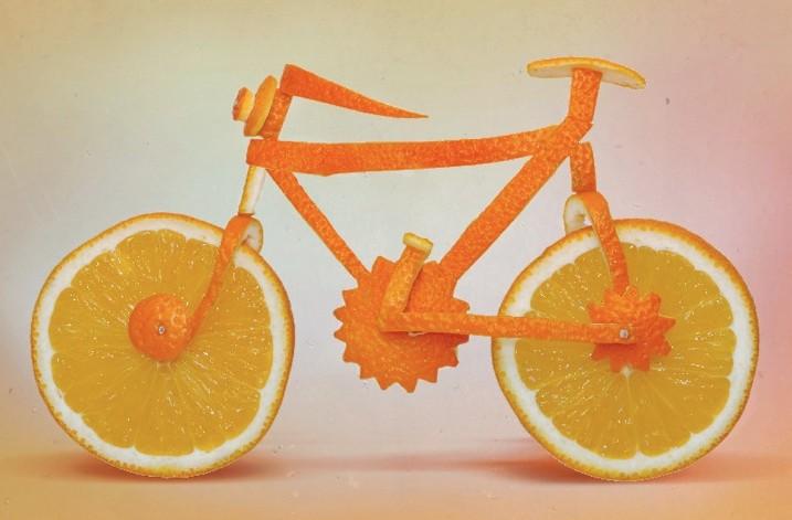 橙子自行车造型艺术