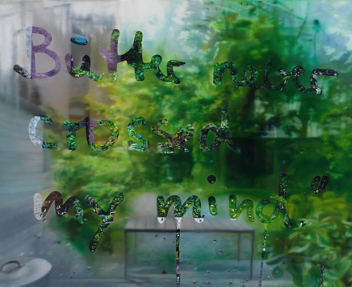 创意摄影:画在玻璃窗上的照片