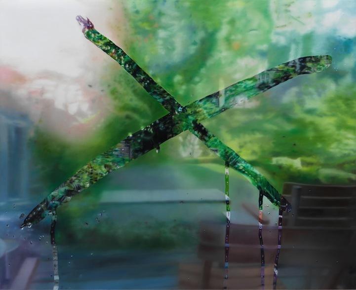 德国艺术家Karin Kneffel 玻璃窗上的照片