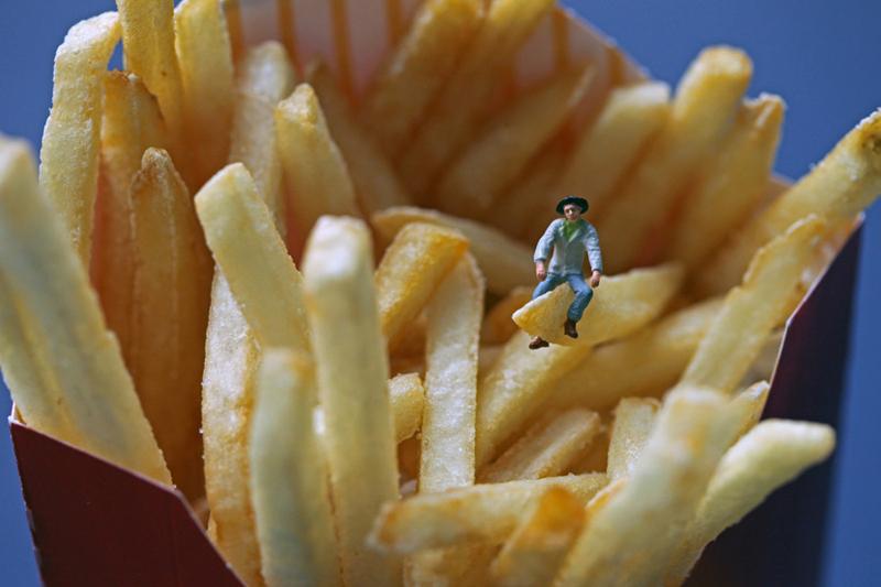 薯条创意摄影作品