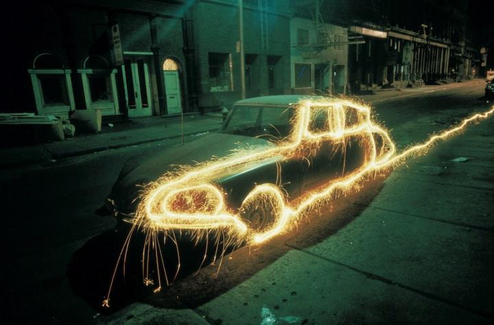 光绘摄影的汽车