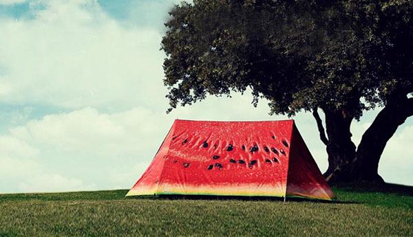 西瓜造型的户外帐篷