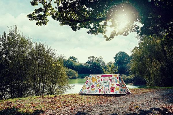 卡通风格的户外帐篷