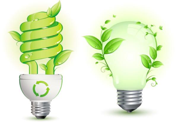 创意绿色节能灯泡矢量素材 生活百科 懒人图库