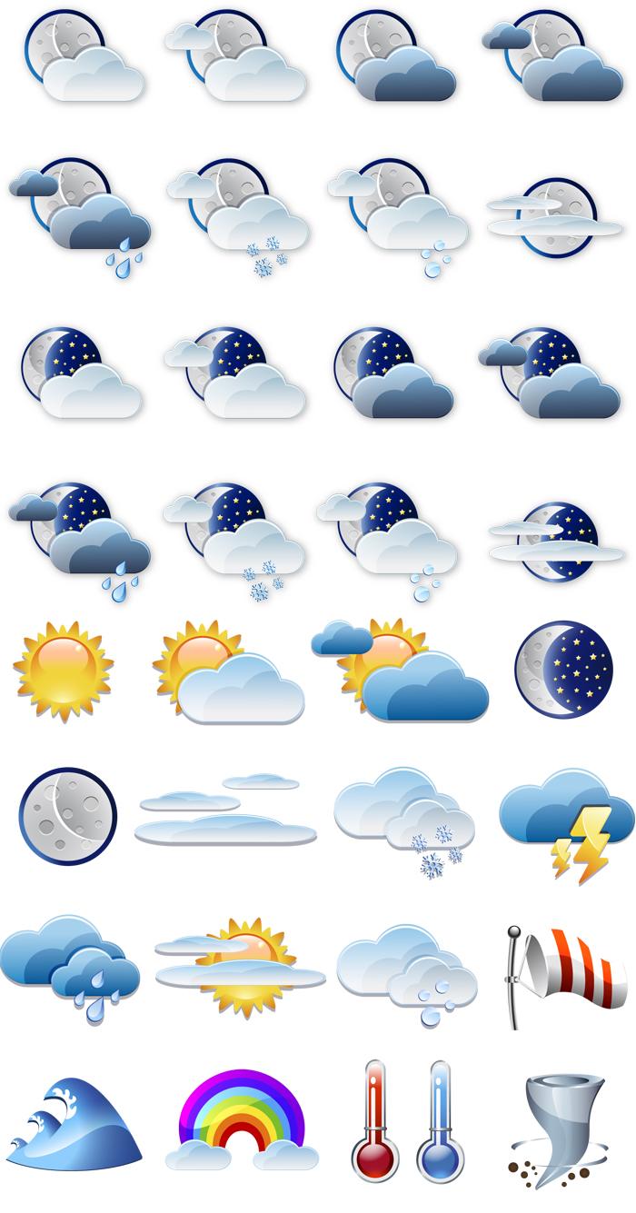 精美气象预报标识矢量素材
