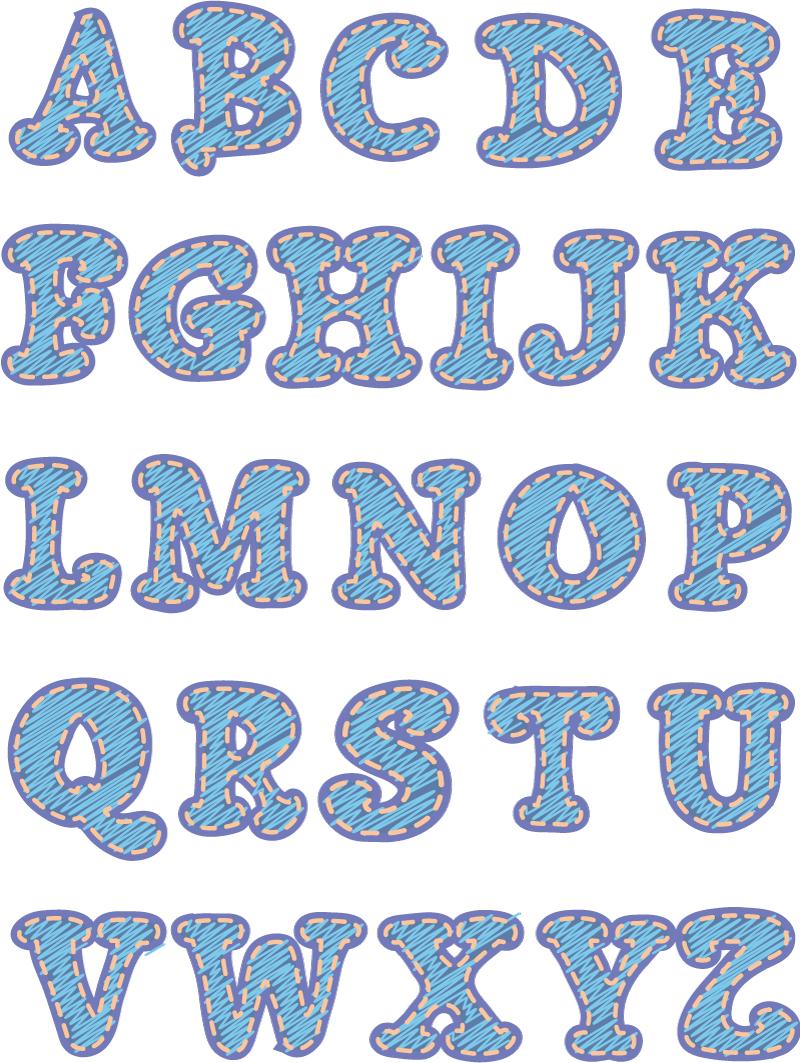 关键字:英文字母,字体图片
