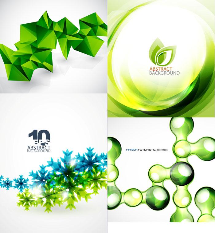 时尚绿色背景矢量素材