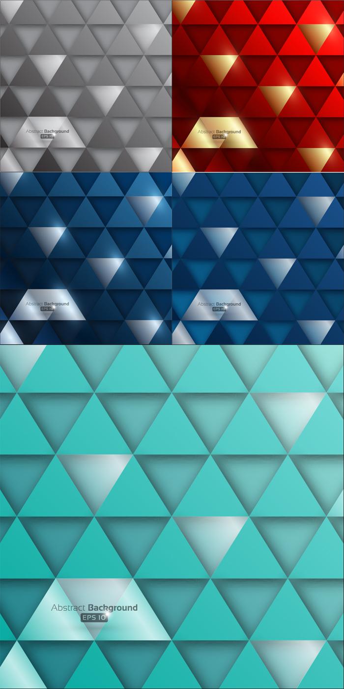 时尚三角纹理背景矢量素材