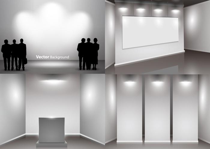 创意展厅设计矢量素材