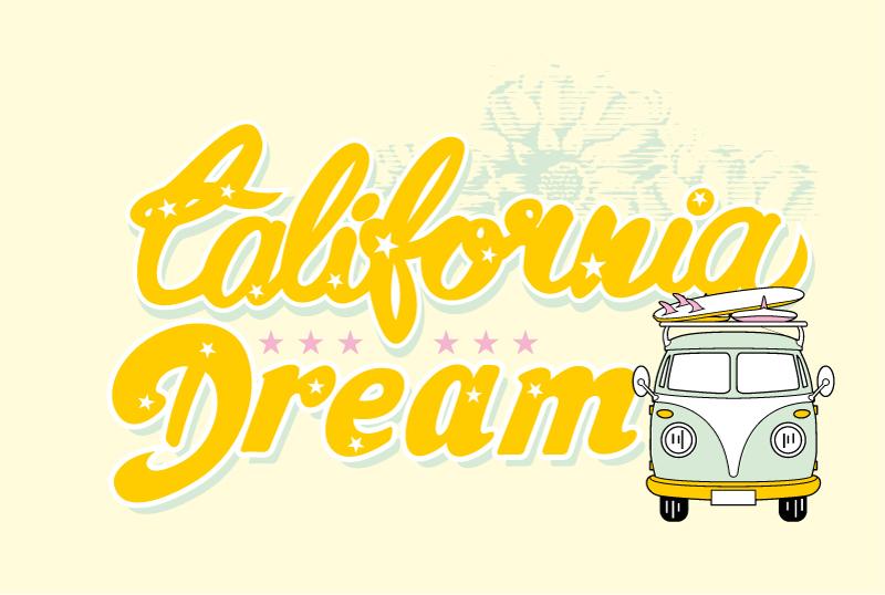 加利福尼亚之梦矢量素材