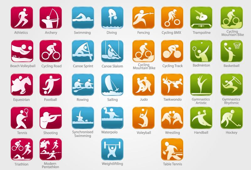 08奥运会会徽名称_精致奥运赛事图标矢量素材图片