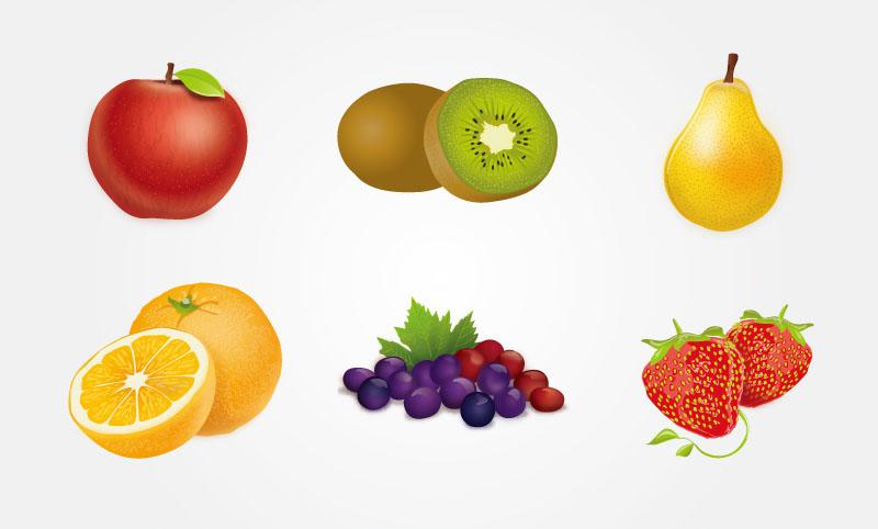 多彩美味水果矢量素材