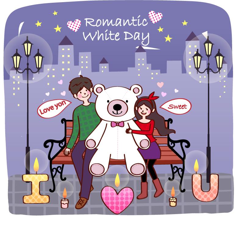 情人节浪漫卡片矢量素材