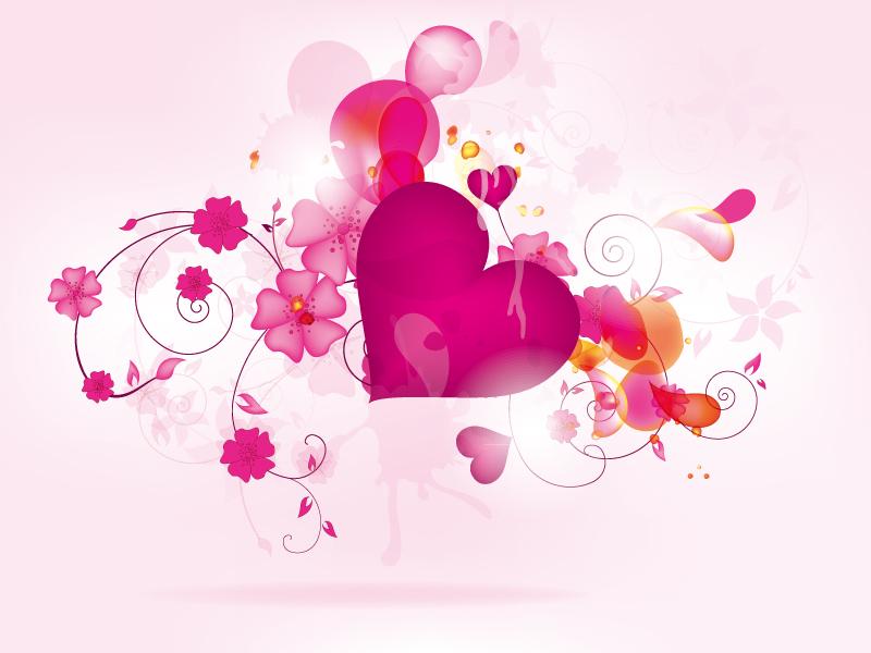 创意爱心背景矢量素材