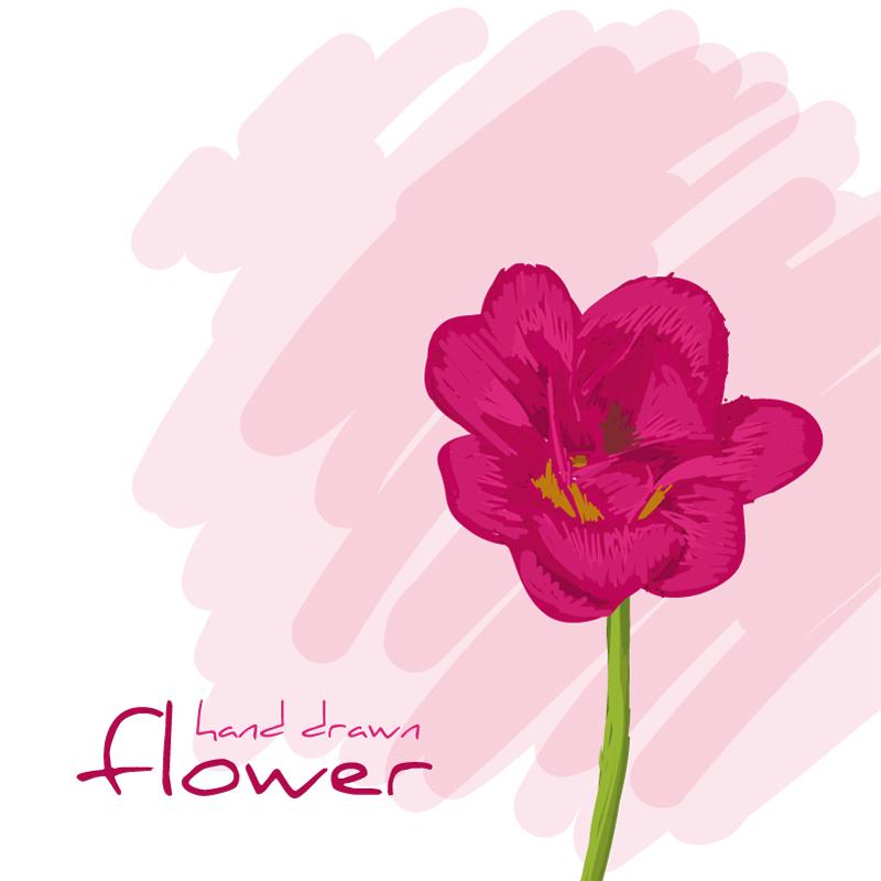 新花卉背景矢量素材