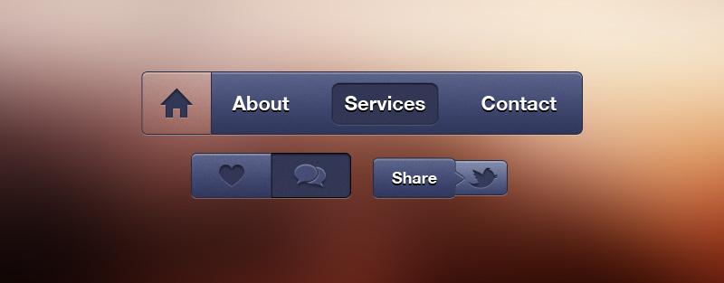 iSO系统按钮图标PSD素材