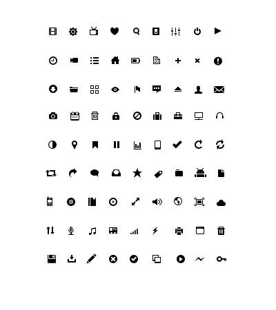 黑白简单小图标PSD素材