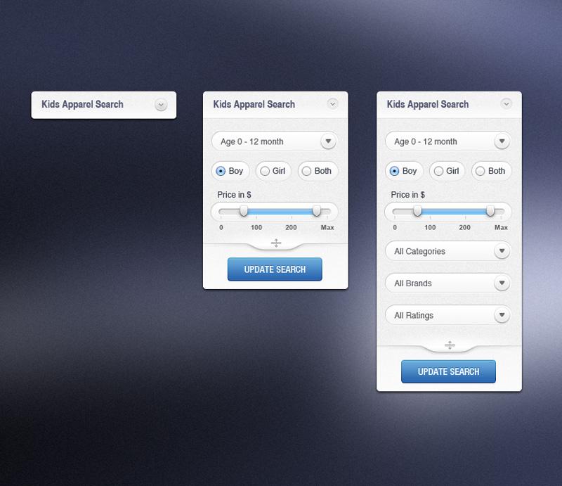 条件筛选窗口PSD素材