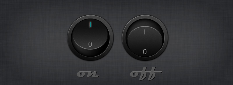 圆形立体按钮PSD素材