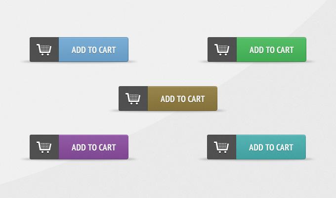 添加到购物车按钮PSD优发娱乐