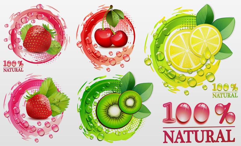 创意新鲜水果矢量素材