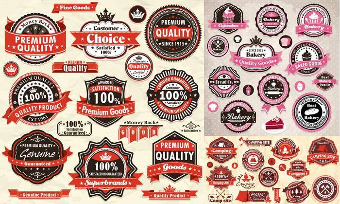 精美商品标签设计矢量素材
