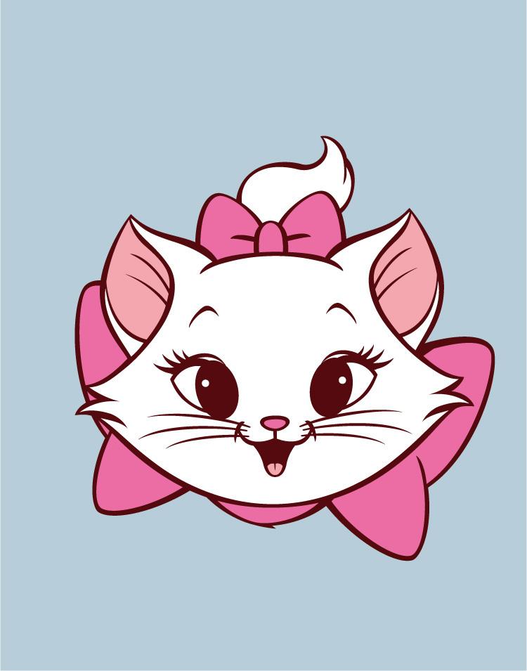 可爱玛丽猫矢量素材