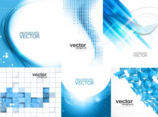 蓝色方块抽象背景矢量素材