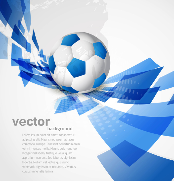 动感足球背景矢量素材