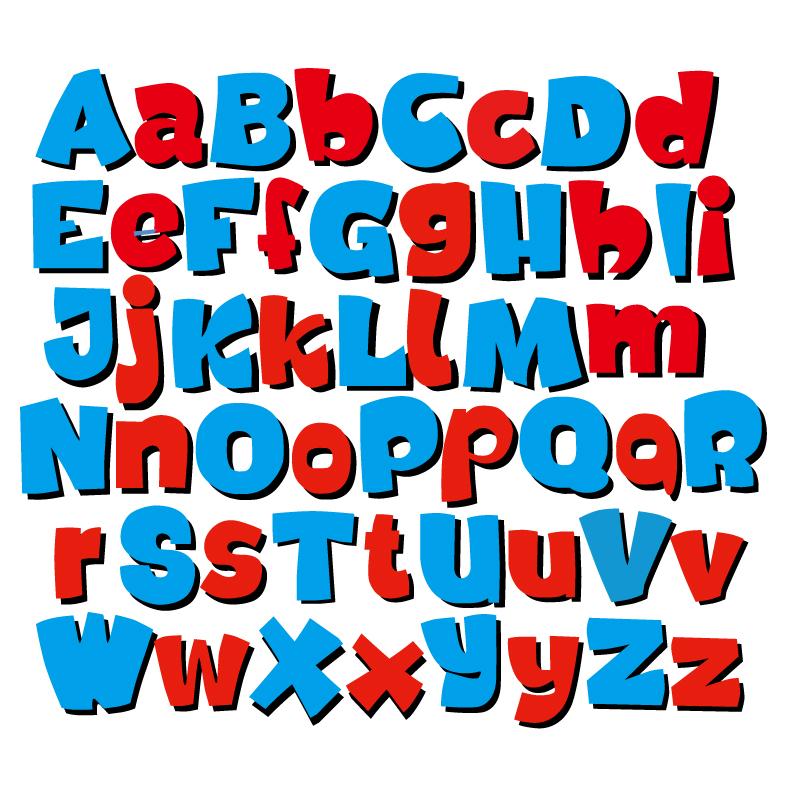 卡通字母设计矢量素材图片