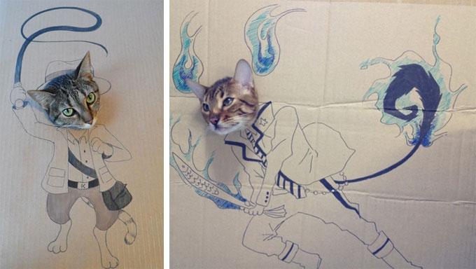 纸箱涂鸦艺术