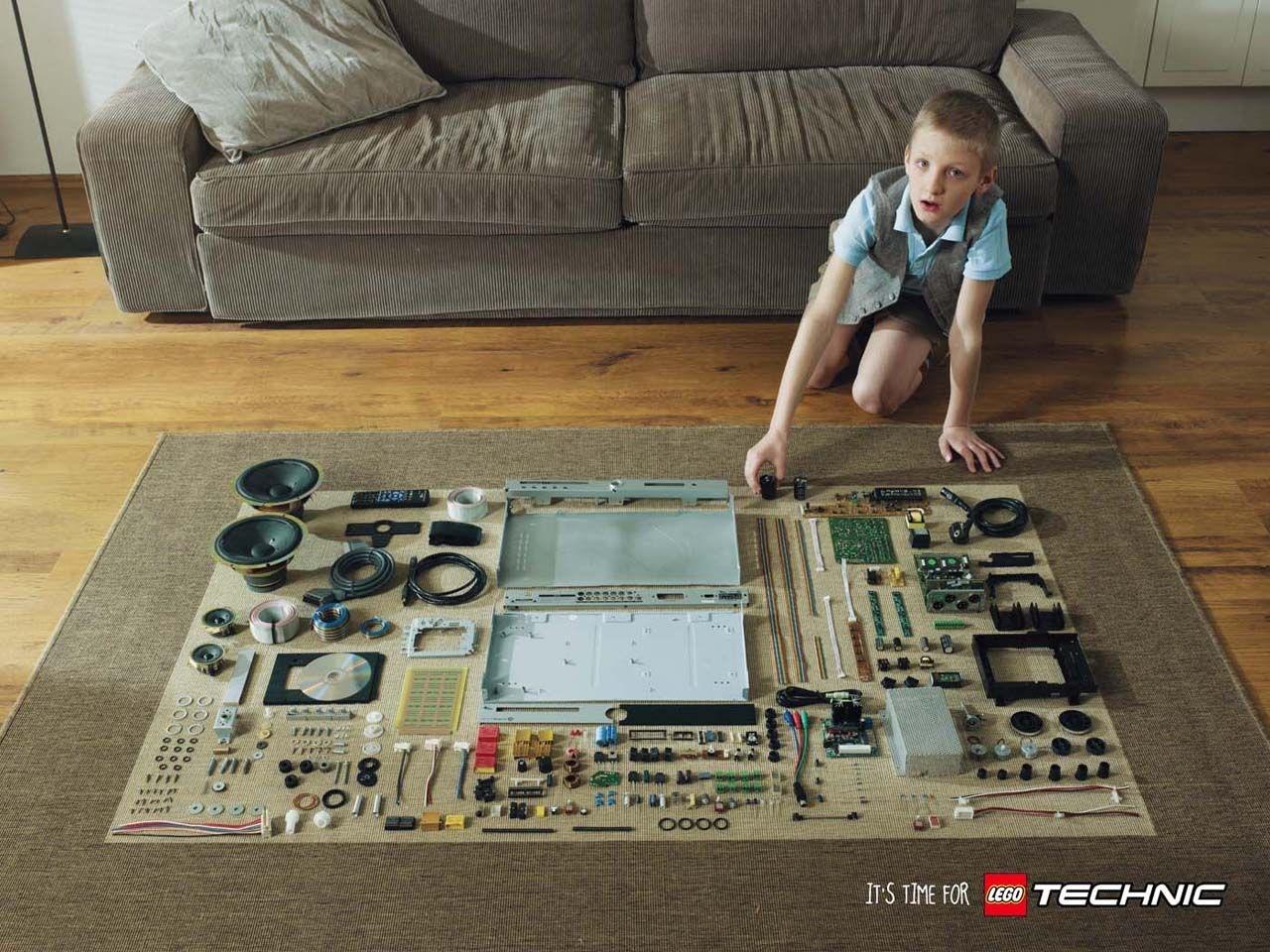 乐高Lego Technic广告创意:起居室篇