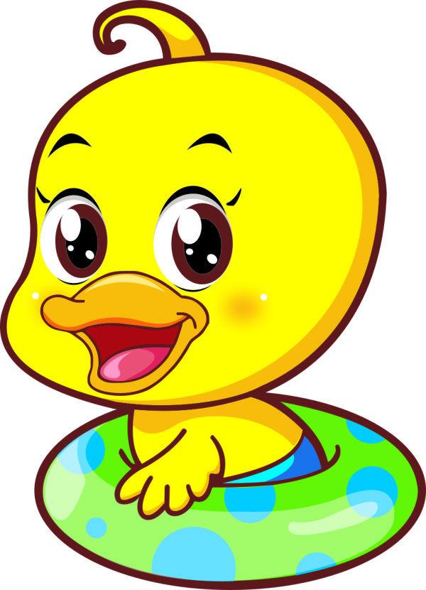 黄鸭子图片_可爱小黄鸭矢量素材_矢量卡通_懒人图库