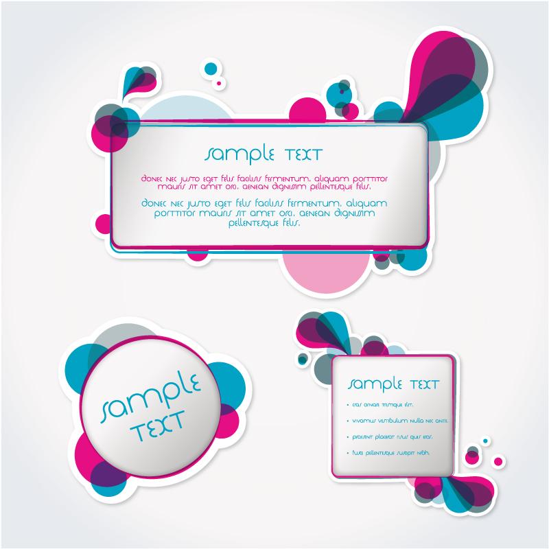 创意彩色贴纸设计矢量素材图片