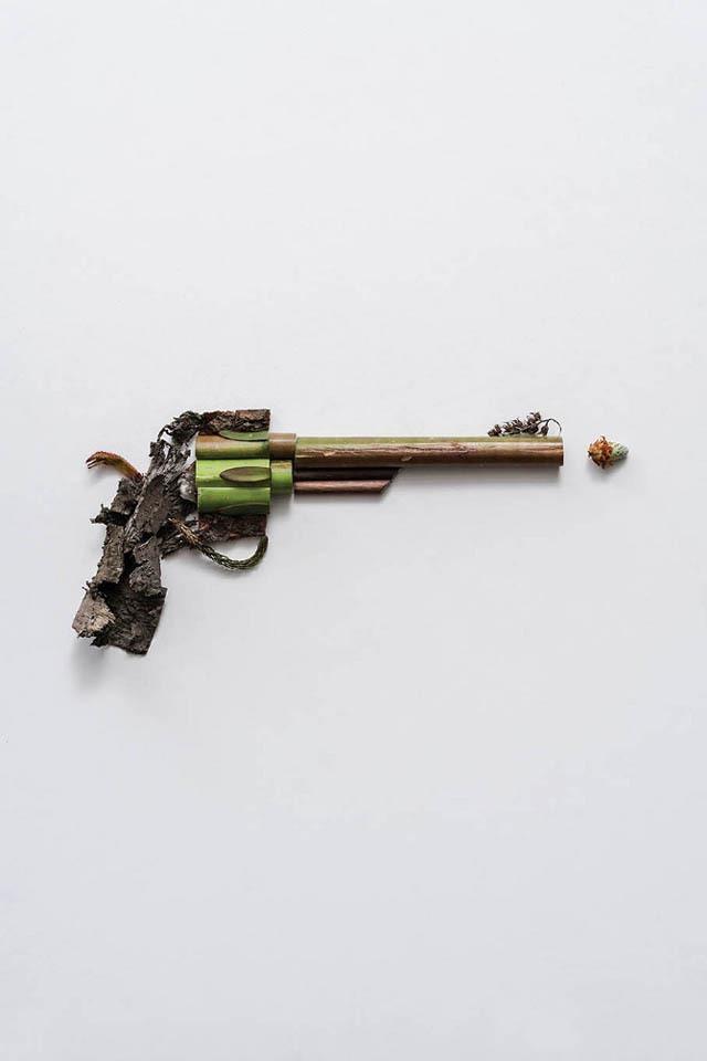 植物拼贴的武器