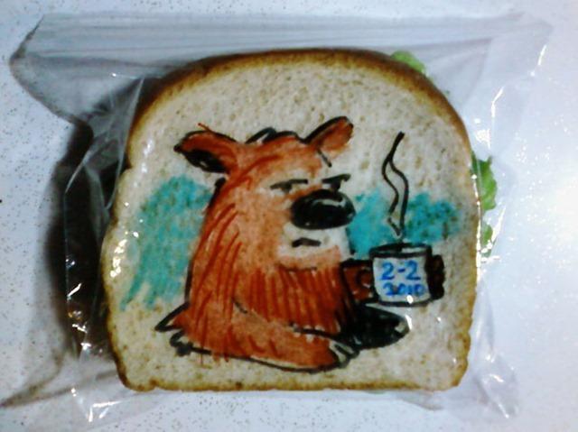 父亲牌儿三明治涂鸦