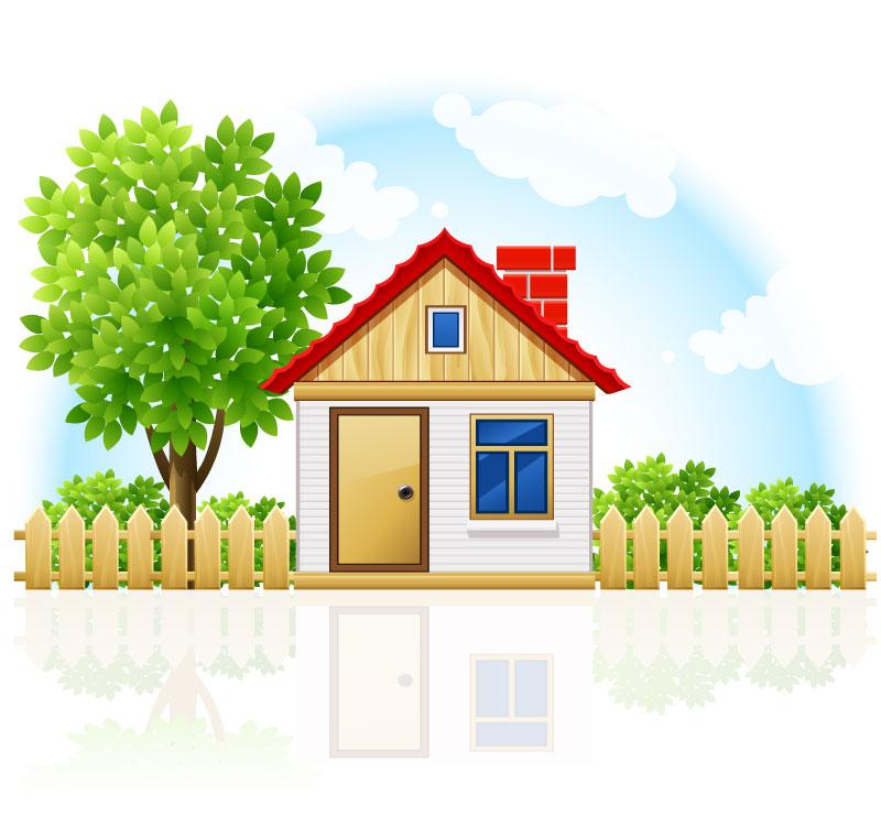 House Landscape Images: 卡通房屋矢量素材_风景建筑_懒人图库