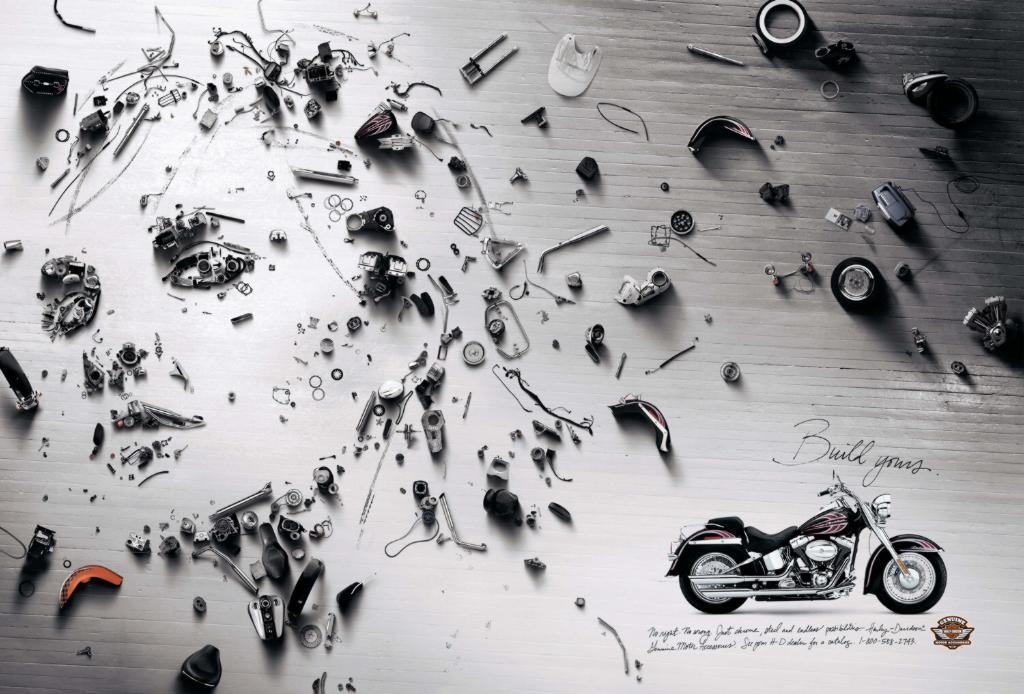 哈雷摩托车创意广告