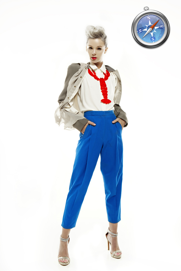 Safari时尚女郎的浏览器代言
