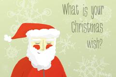 卡通圣诞老人海报矢量素材
